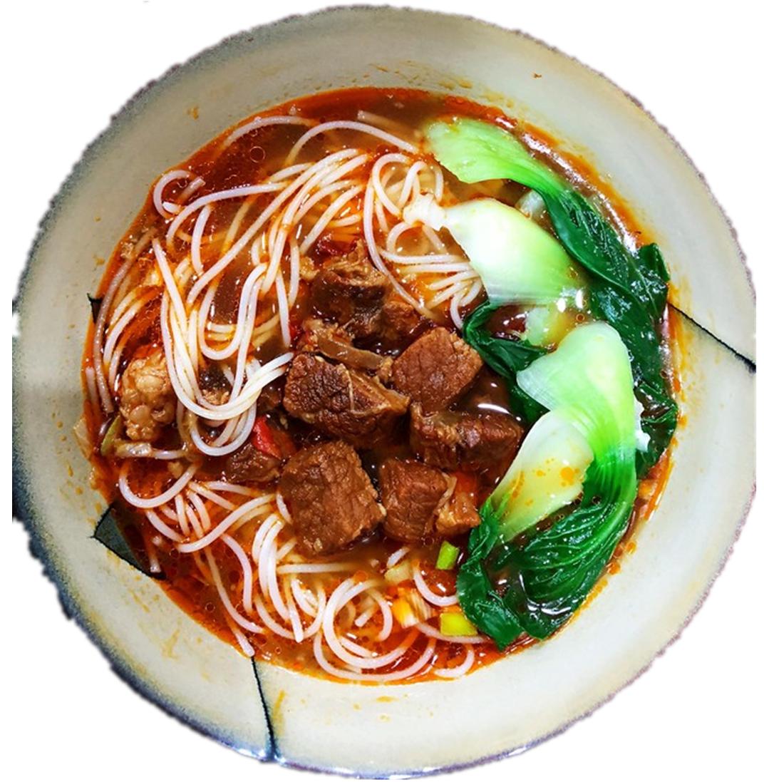 昆明原汁风味牛肉米线 Soupe de vermicelles de riz au saveur de bœuf