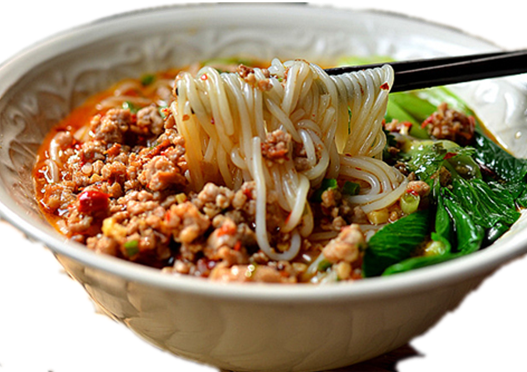 昆明风味肉酱米线汤 Soupe vermicelles de riz à la sauce de la viande hachée