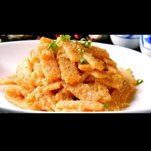 蛋黄焗南瓜 Citrouille frite avec jaune d'œuf de canard