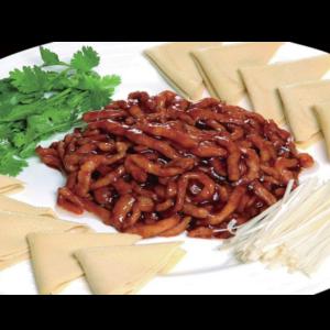 京酱肉丝 Les émincés de porc à la sauce pékinoise avec des crêpes