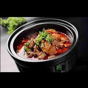 香辣牛腩煲 Marmite ragout de bœuf
