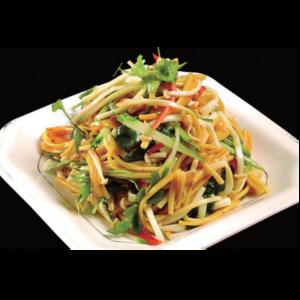 凉拌金针菇 Salade champignon d'or et concombres
