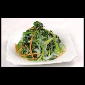 凉拌菠菜粉丝 Salade des épinards avec vermicelles