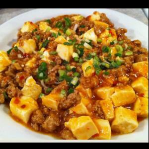 肉沫豆腐 Tofu sauté avec viande hachée non épicées