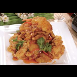 正宗老东北锅包肉 Tranche de frite avec sauce aigre-douce (aigre+)