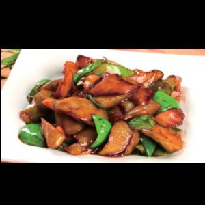 地三鲜 Trois légumes sautés (aubergine, pomme de terre et poivron)