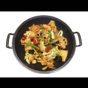 干锅素什锦 Wok des légumes
