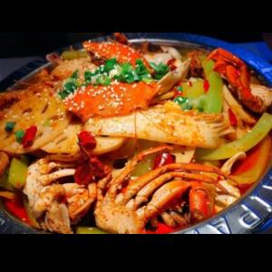 干锅香辣蟹 Wok au crabe