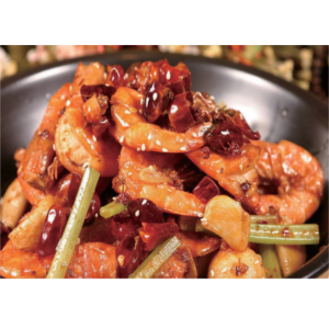 麻辣香锅虾 Wok aux crevettes