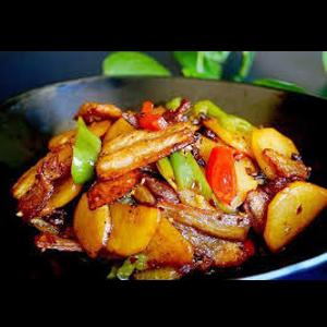 麻辣香锅五花肉 Wok au poitrine de porc
